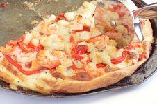 Free Shrimp Pizza Royalty Free Stock Photos - 17581538