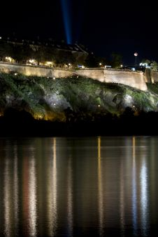 Free Petrovaradin Fortress At Night Royalty Free Stock Images - 17581609