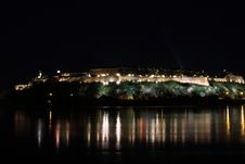 Free Petrovaradin Fortress At Night Royalty Free Stock Images - 17581709