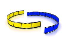 Free Yellow And Blue Film Arc Stock Image - 17581921