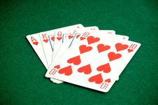 Heart Poker Royalty Free Stock Images