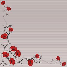 Free Floral Background Frame Royalty Free Stock Photos - 17582008