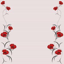 Free Floral Background Frame Royalty Free Stock Images - 17582019