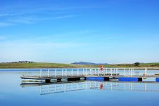 Anchorage In The River Guadiana. Royalty Free Stock Photos