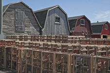 Free Barns And Lobster Traps Royalty Free Stock Photography - 17582727