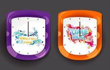 Free Clock Design Illustration Royalty Free Stock Images - 17582819