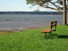 Free Bench By Ocean Stock Image - 17582841