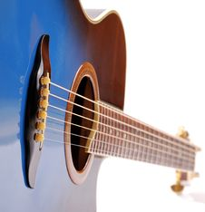 Free Blue Guitar Stock Image - 17583901
