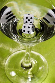 Free Dice Martini Stock Image - 17583931