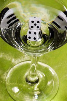 Free Dice Martini Stock Image - 17583931