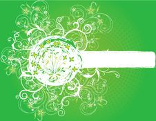 Free Abstract Flower Illustration Flower Spring Green Royalty Free Stock Images - 17584029