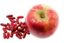 Apple And Medicines Royalty Free Stock Photography