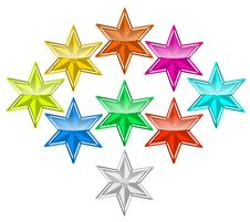 Free Color Star Stock Photography - 17584152
