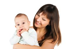 Free Pretty Young Women With Her Son Royalty Free Stock Photo - 17584375