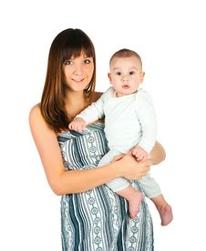 Free Pretty Young Women With Little Son Royalty Free Stock Photo - 17584385