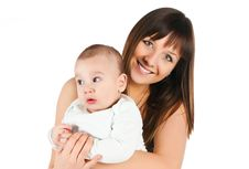 Free Pretty Young Girl And Her Son Royalty Free Stock Photos - 17584398