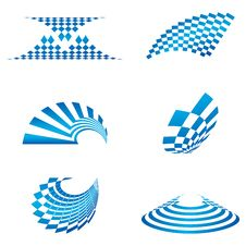 Different Shapes Of Logo Stock Photography