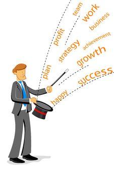 Free Businessman Showing Magic Stock Image - 17584561