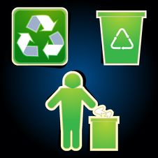 Free Recycle Icons Stock Images - 17584614