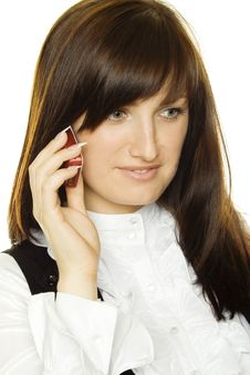 Free Young Woman On Phone Stock Image - 17584691