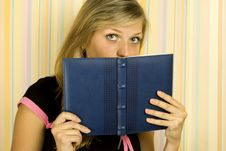 Free Girl With Notebooks Royalty Free Stock Photos - 17584768