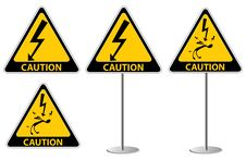 Free Electric Shock Risk Sign Royalty Free Stock Photo - 17584905