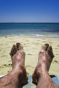 Free Feet On The Beach Royalty Free Stock Photo - 17585055