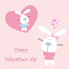 Greeting Card To Valentines Day Stock Image
