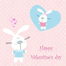 Greeting Card To Valentines Day Stock Photo