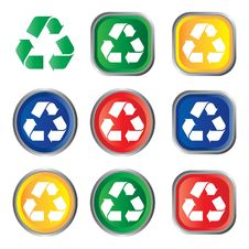 Free Recycle Icon Royalty Free Stock Photography - 17585377