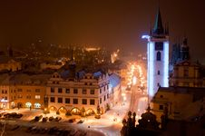 Litomerice In The Night, Czech Republic