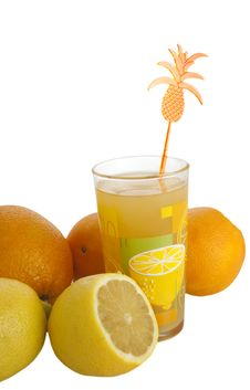 Free Glass With Citrus Juice Stock Images - 17585924