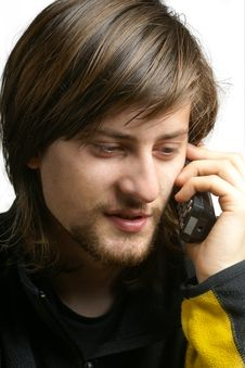 Free Young Men Talking By Telephone Stock Photos - 17586523