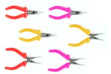 Free Three Color Of Pliers Royalty Free Stock Images - 17586539