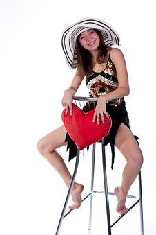 Free Beautiful Young Girl Sitting Stock Photo - 17586640