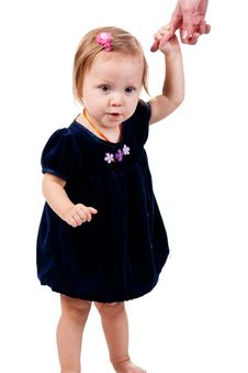 Free Baby Girl Holding A Parent S Hand Stock Photo - 17586720