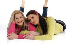 Free Two Pretty Girl Friends Having Fun And Laughing Royalty Free Stock Photo - 17586855