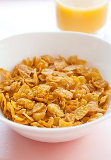 Free Honey Cornflakes Stock Photography - 17587752