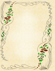 The Drawn Elements Of Decorative Pattern Stock Photos