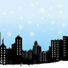 Free Winter City Stock Image - 17589001