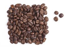 Free Roasted Coffee Beans Are A Rectangle Stock Images - 17589074