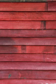Old Wood Wall And Chipping Red Color Royalty Free Stock Photo