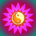 Free Ying Yang Flower & Sun Royalty Free Stock Photography - 17590997