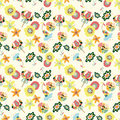Free Seamless Flower Pattern Stock Image - 17598571