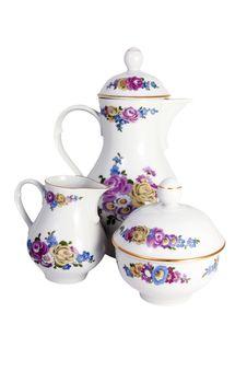 Free Tea Coffe Set Royalty Free Stock Photos - 17590218