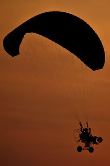 Paramotor Silhouette Stock Images