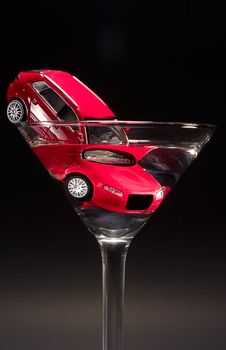Free Toy Car In Glass Stock Photos - 17590313