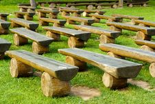 Free Outdoor Wood Seating Stock Images - 17590364