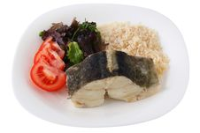 Free Boiled Codfish With Rice Royalty Free Stock Photo - 17590575