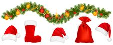 Free Set Of Holiday Objects. Vector. Royalty Free Stock Photography - 17590627